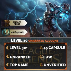 League of Legends Account 45 Capsules on server Europe West EUW