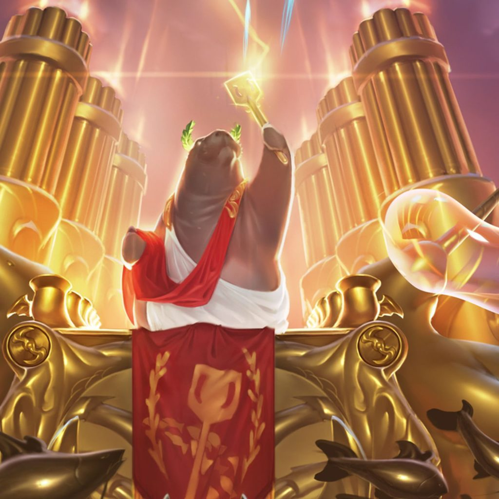 A glorious picture of URF holding a golden spatula