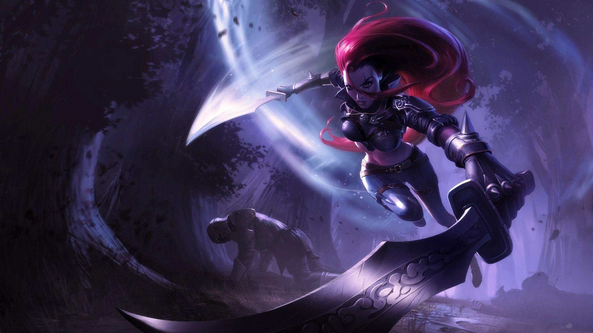 League of Legends Champion Katarina Fanart Wallpaper