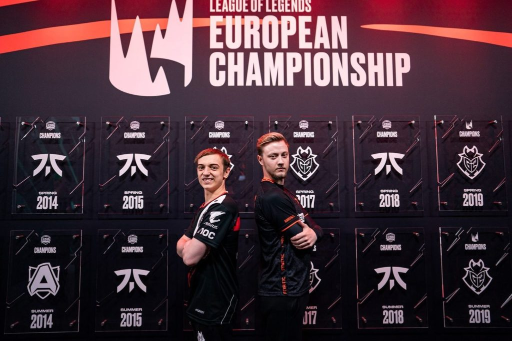 The LEC featuring the rivalry between Rekkles and Caps