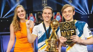 Sjokz interviewing Perkz and Caps after winning MSI 2019