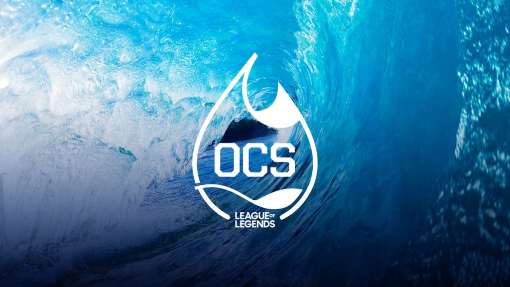 Oceania Championship Series Water Droplet Banner