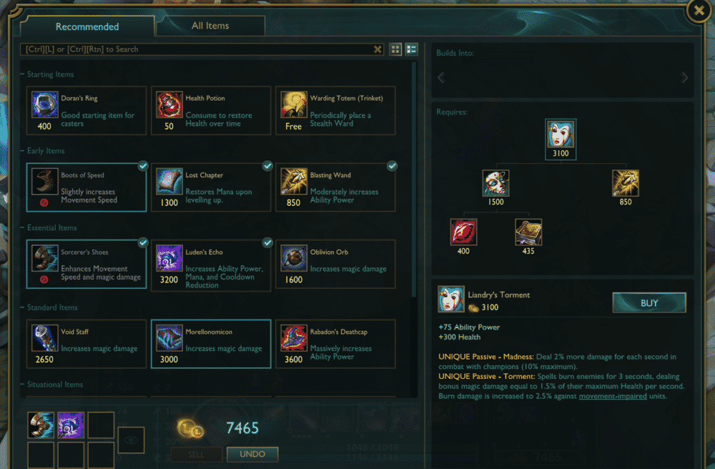 Liandry's Torment build path underrated lol items