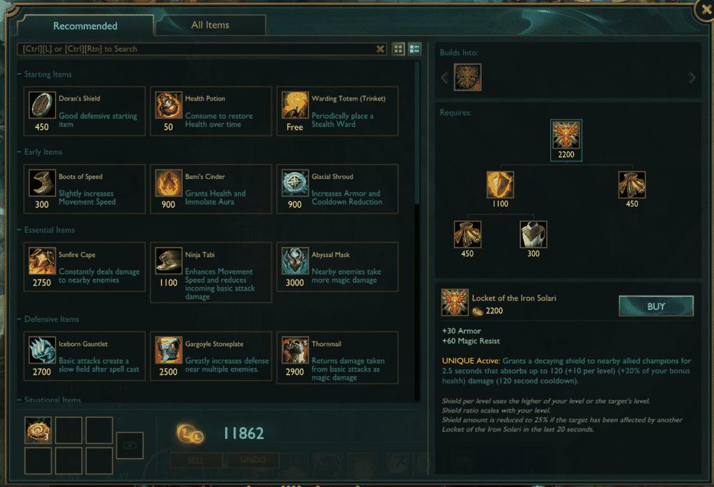Locket of the Iron Solari build path underrated lol items