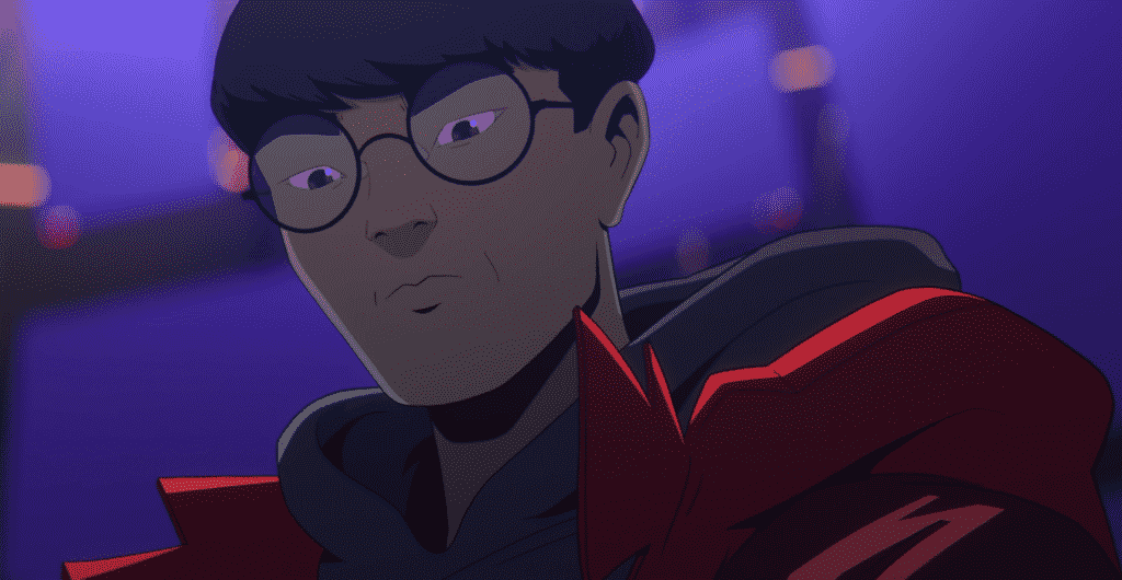 Faker animated into the Take Over Worlds SOng best mid laners