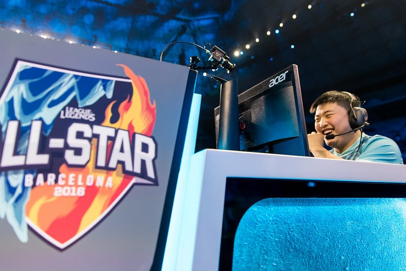 Uzi playing at the All-Star Tournaments