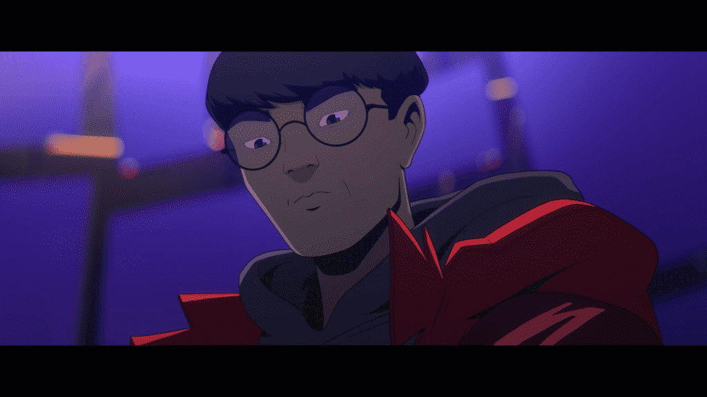 Animated Faker looking down upon us - LoL Worlds song