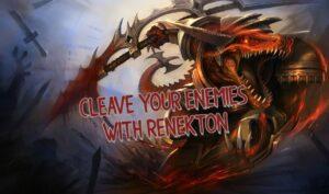 Renekton drenched in blood | Renekton Guide Banner