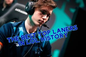 Finn looking at the screen | Best Top Laners banner