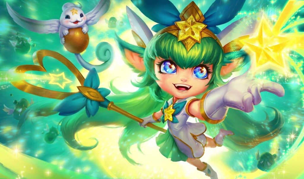 Sparkly-eyed, green-haired, magical girl Lulu! cutest LoL skins