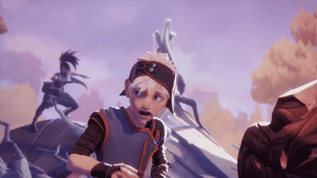 Akali ambushing a kid from Noxus