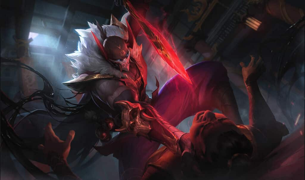 Pyke about to assassinate a man - Best LoL Skin Lines