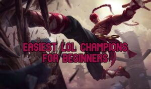Lee Sin kicking a wooden board | Easiest LoL champs banner