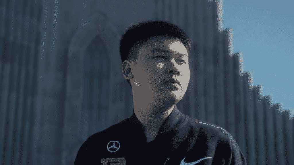 Wei looking over into the distance