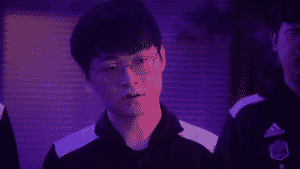 Damwon Kia's Showmaker looking smug at the competition | MSI 2021 Rumble Stage Banner