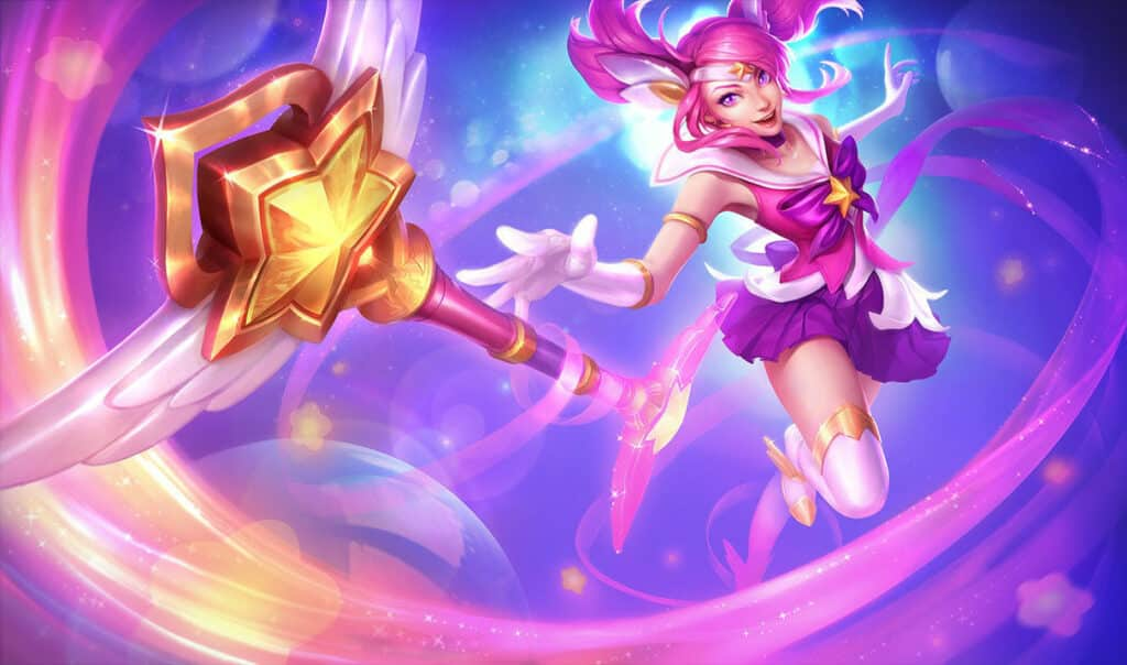 Lux dressed as a magical girl from cartoons - Best LoL Skin Lines
