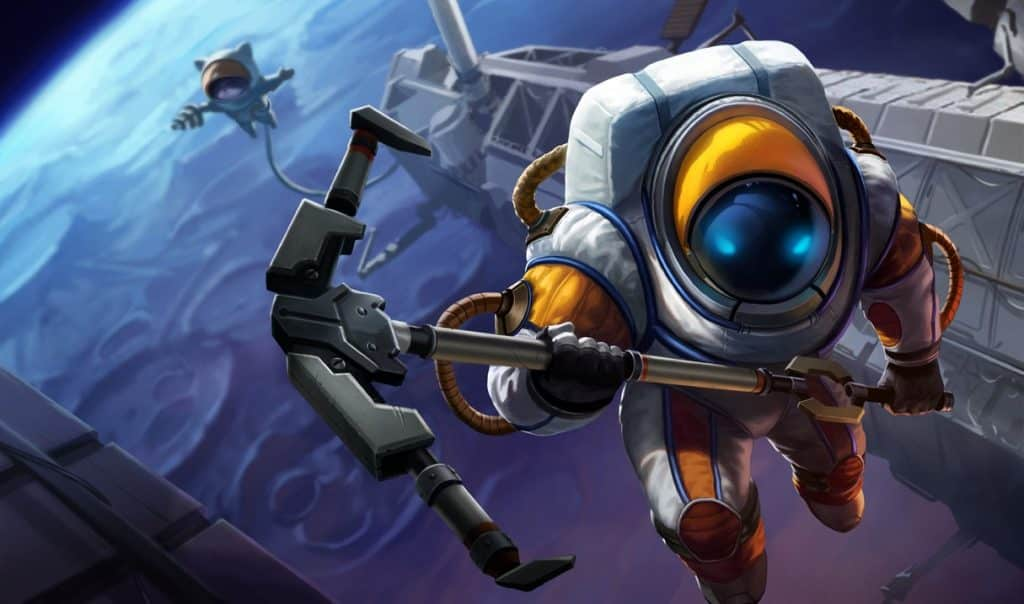 Nautilus wearing an astronaut's outfit