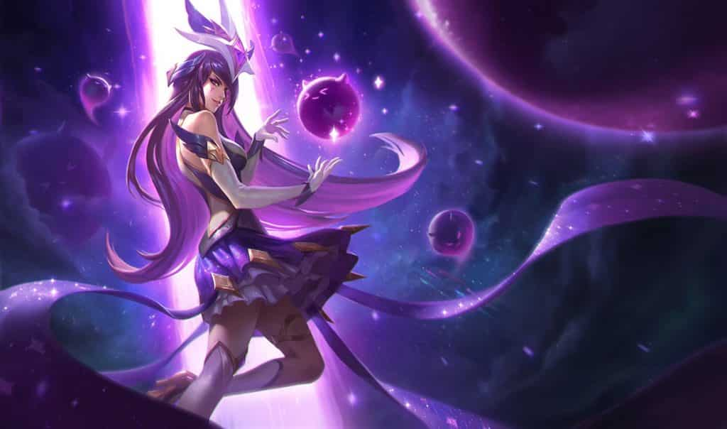 Syndra floating in the dark cosmos | LoL Starter Items