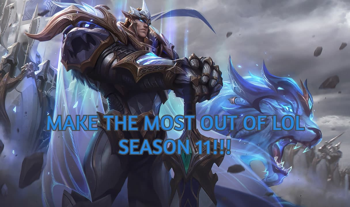 Garen with his spirit army and wolf | LoL Season 11 banner