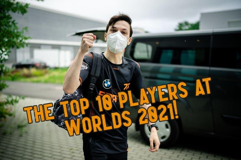 FNC Adam raising his fist - Worlds 2021 Players